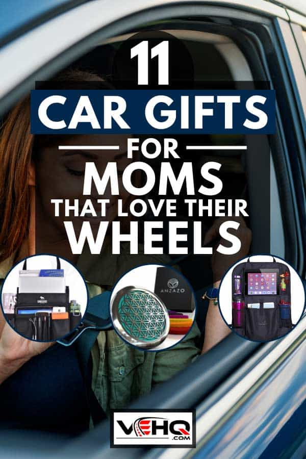 Mom sitting on car seat and fastening seat belt, 11 Car Gifts For Moms That Love Their Wheels