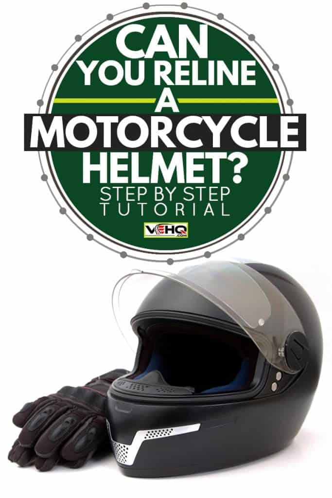 A black helmet and driving gloves against white background, Can you Reline a Motorcycle Helmet? [Step by Step Tutorial], Can you Reline a Motorcycle Helmet? [Step by Step Tutorial]