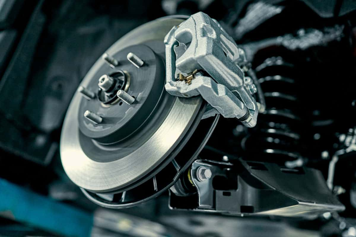 Close up photographed of car brakes