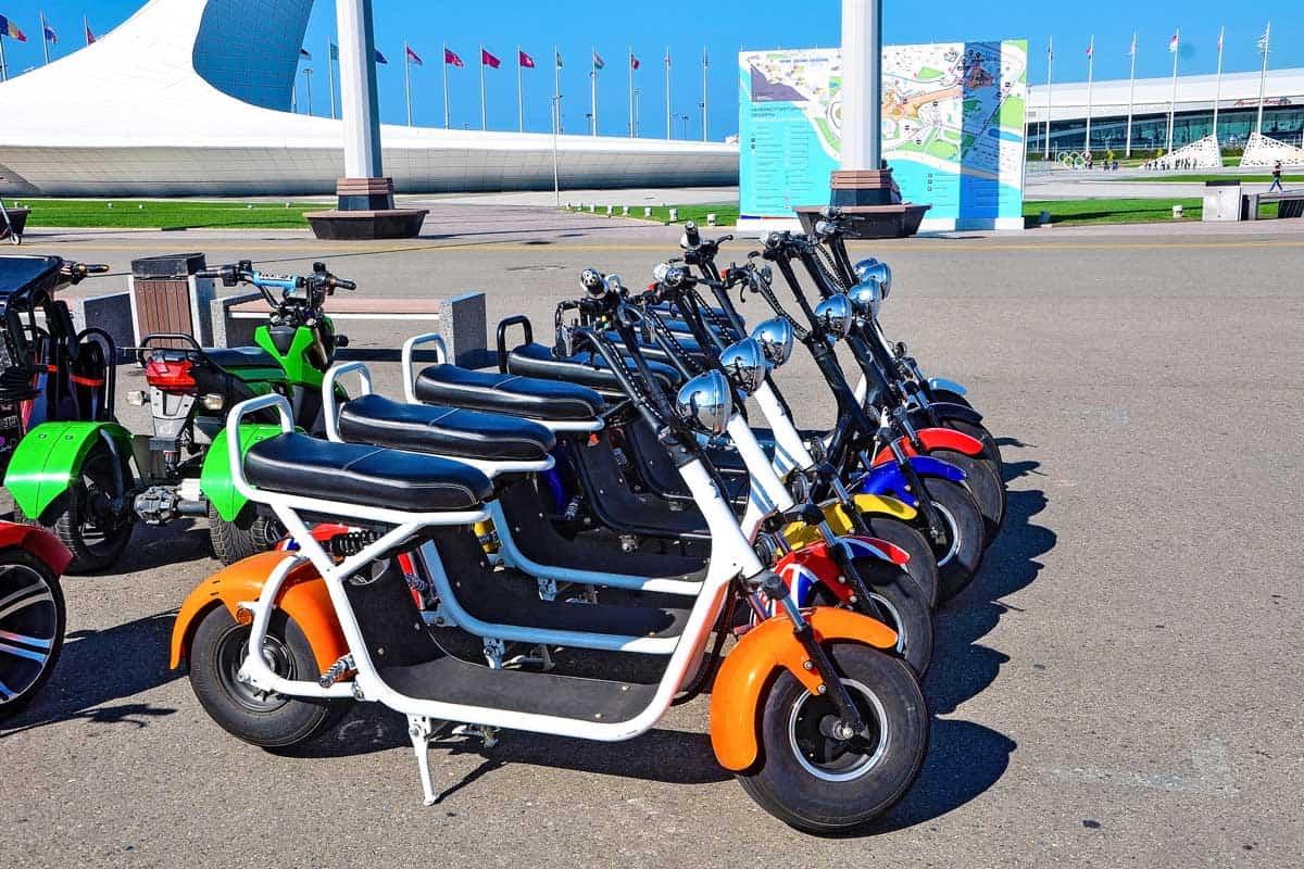 Electric bike rental in Sochi park