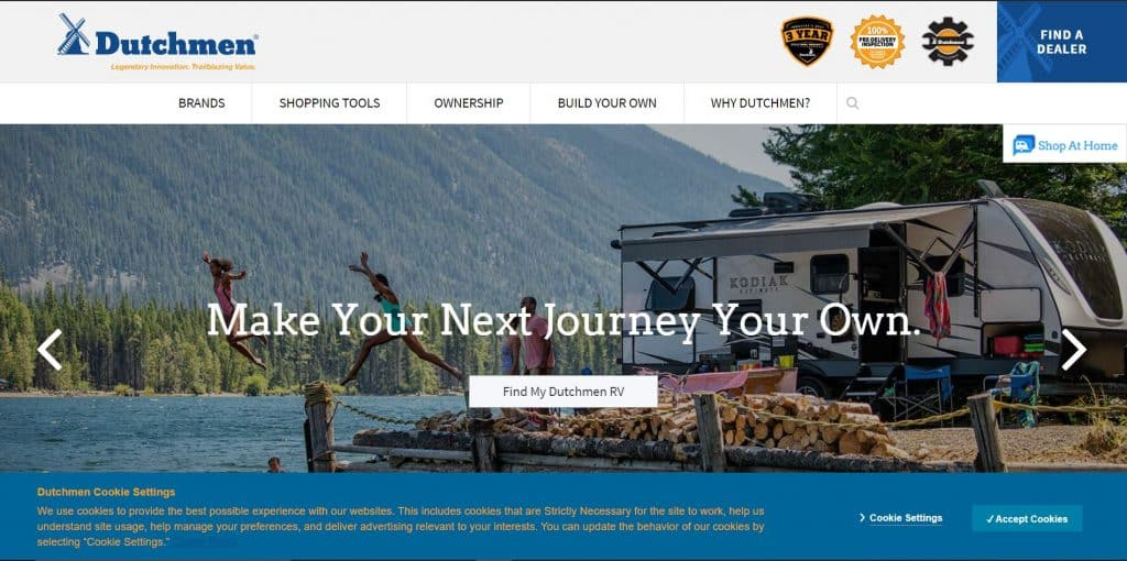 Dutchman website homepage