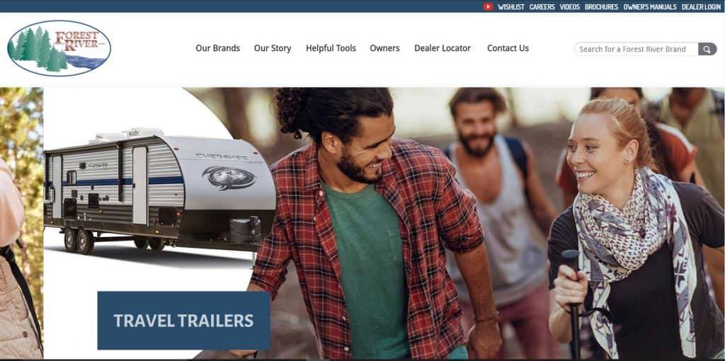 Forestriver website homepage