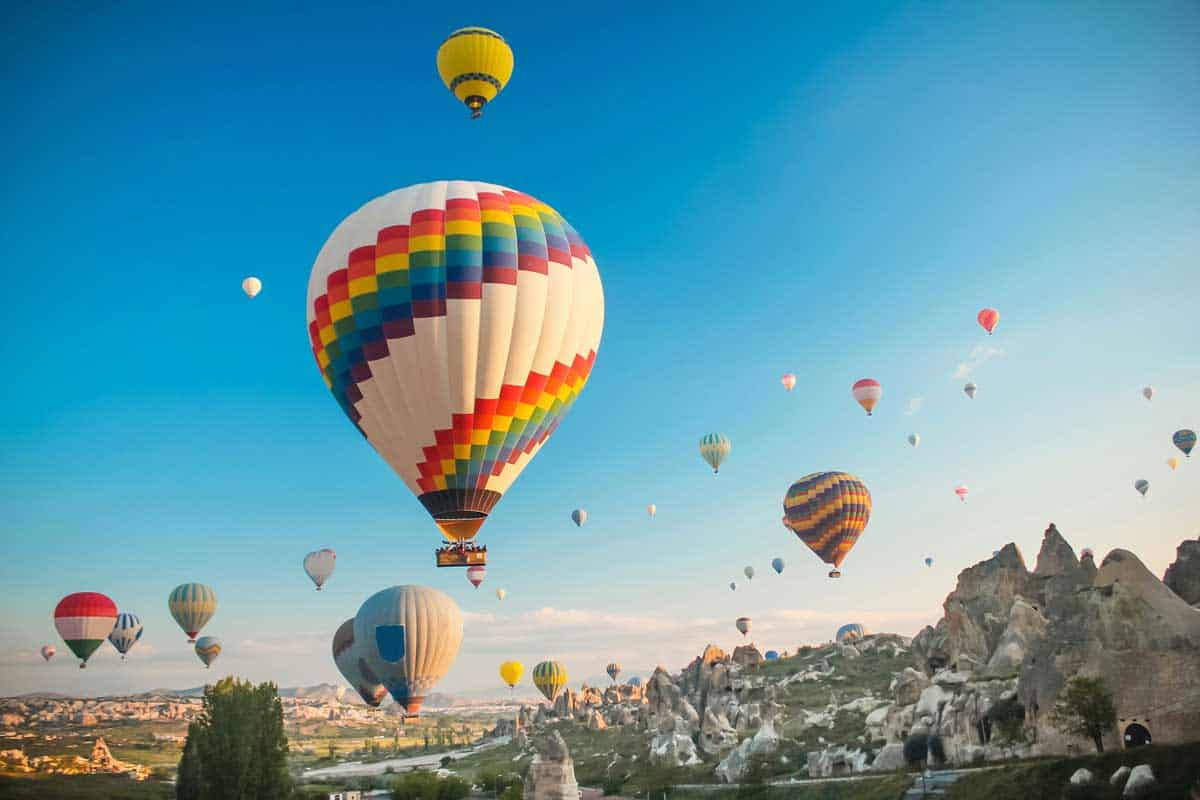 Hot air baloon in Cappadocia