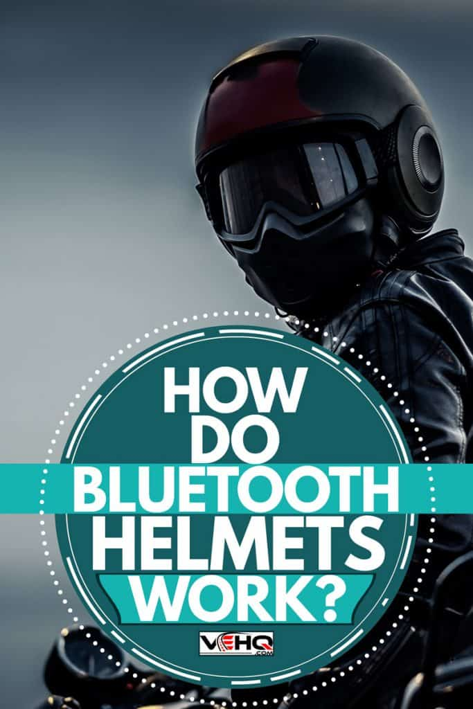 A dark biker helmet with goggles and mask, How Do Bluetooth Helmets Work
