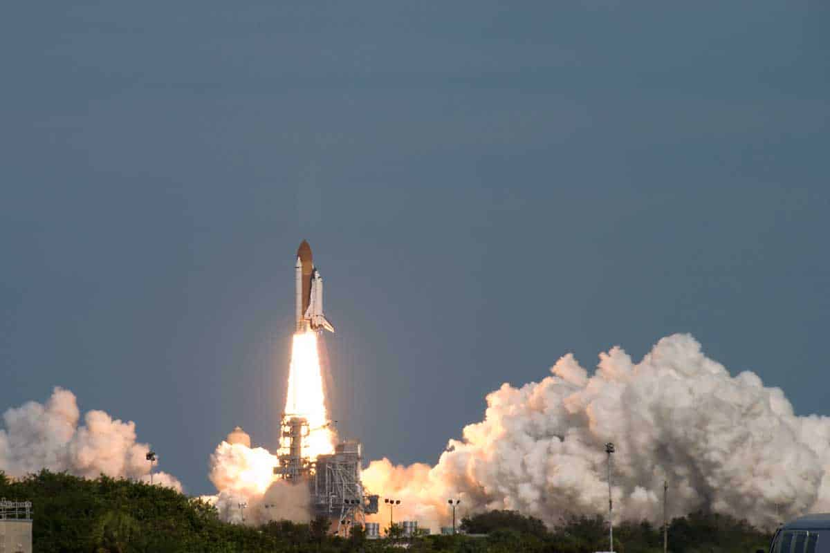 Launch of the Space Shuttle Atlantis (STS-122