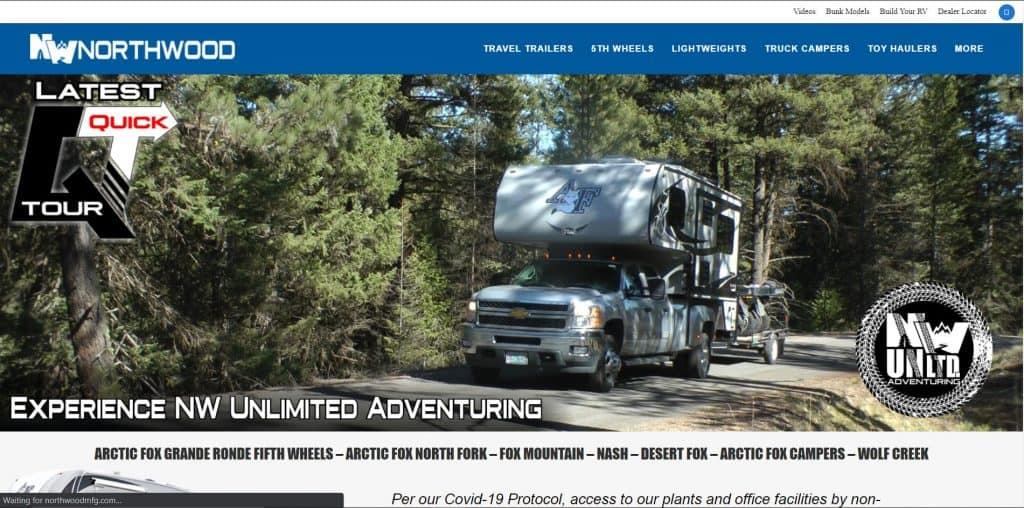 Northwood website homepage