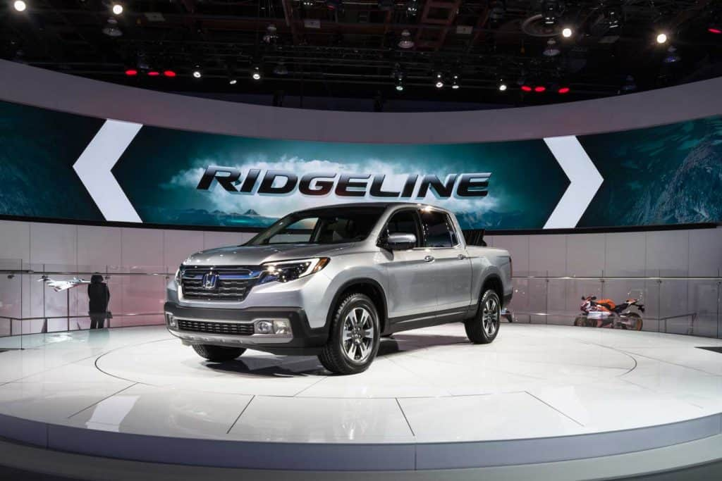 What Trucks Have AWD? [Inc. 10 Specific Models], Honda Ridgeline truck at the North American International Auto Show (NAIAS)
