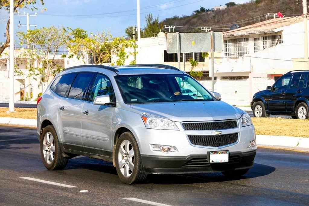 Motor car Chevrolet Traverse in the city street