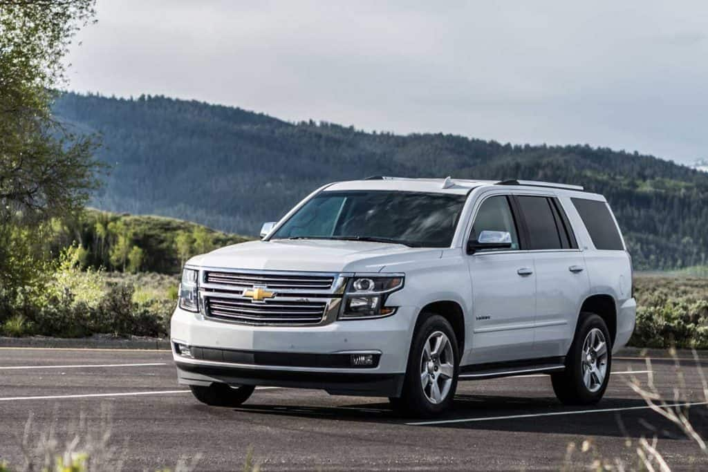 Photo of a Chevrolet Tahoe LTZ at Yellowstone national park,Wyoming, USA
