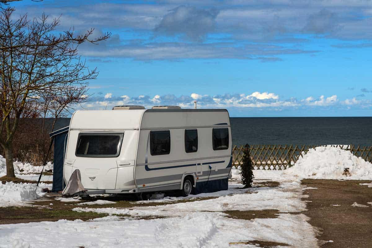 RV parked near the beach