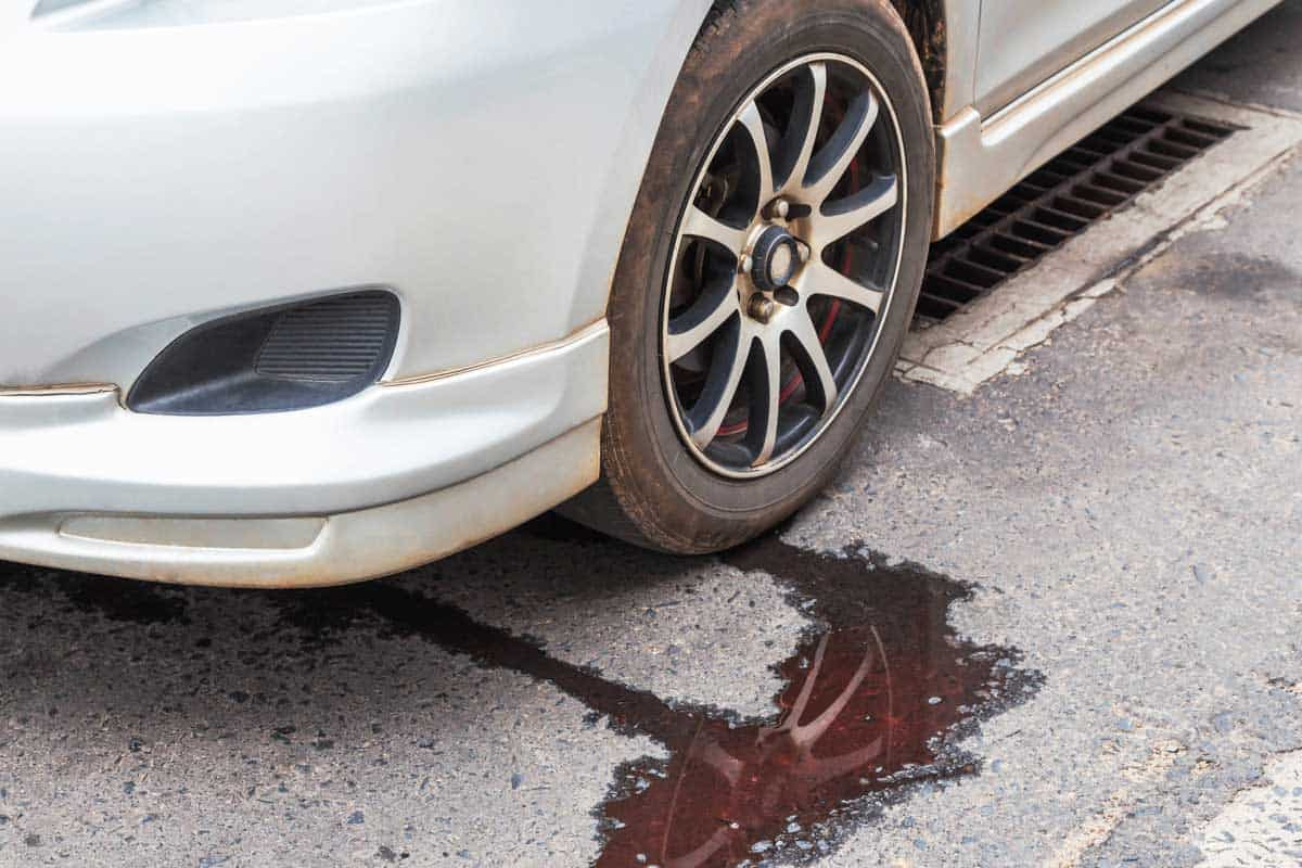 Water leaking from car radiator problem on the road