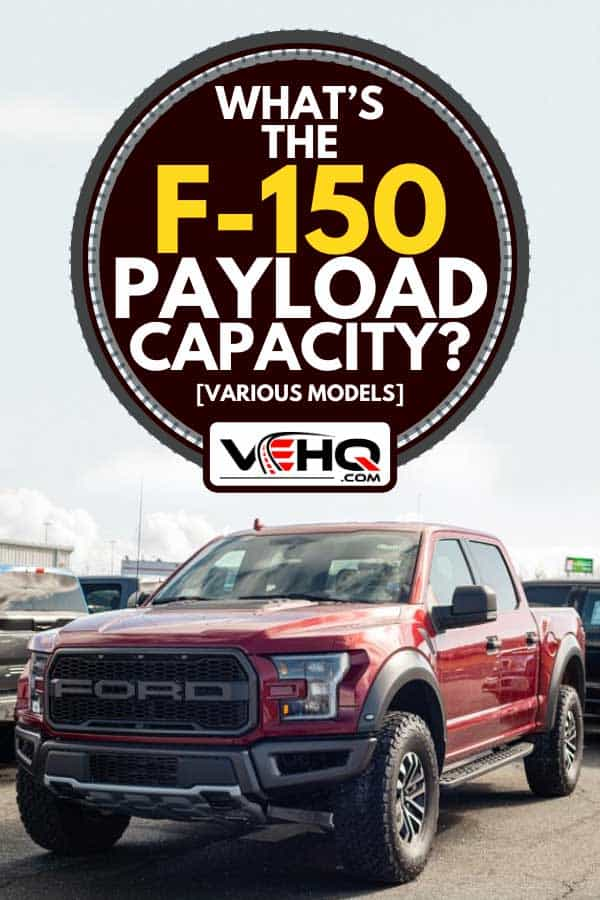 Red 2020 Ford F-150 Raptor pickup truck at a Ford dealership, What's the F-150 Payload Capacity? [Various models]