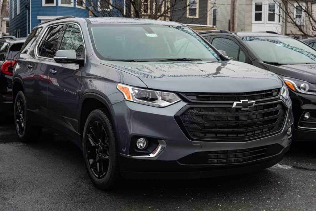 A 2020 Chevrolet Traverse at a dealership in Halifax's North End, How Much Can You Tow With A Chevy Traverse?