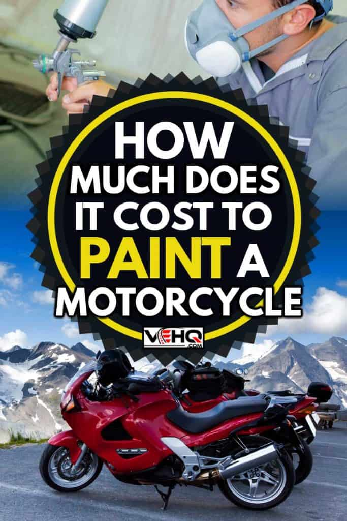 Newly painted motorcycle on mountains, How Much Does It Cost To Paint A Motorcycle?