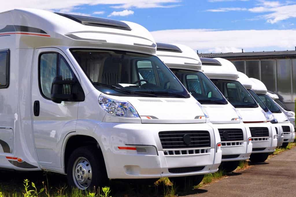 Newly produced motorhomes on a car park in a vehicle factory, What's the Average Price of a New RV? [By RV Type]