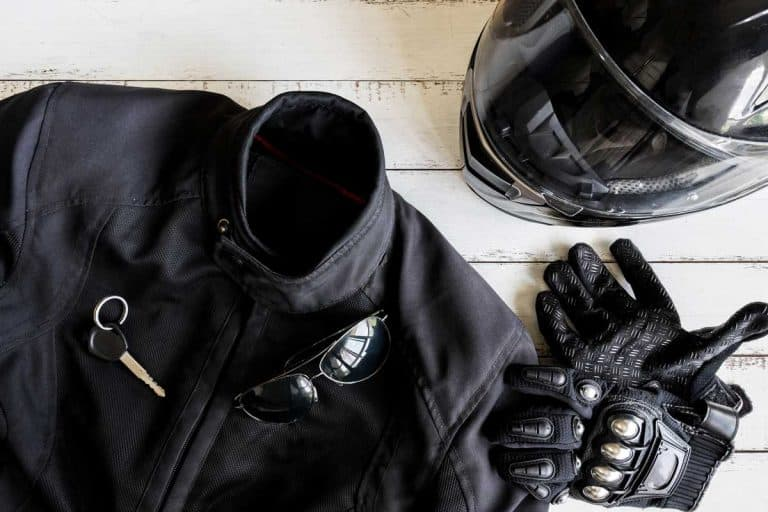 Outfit of Biker and accessories with copy space, Ready to ride, Motorcycle Safety Gear Checklist [7 Must Haves!]