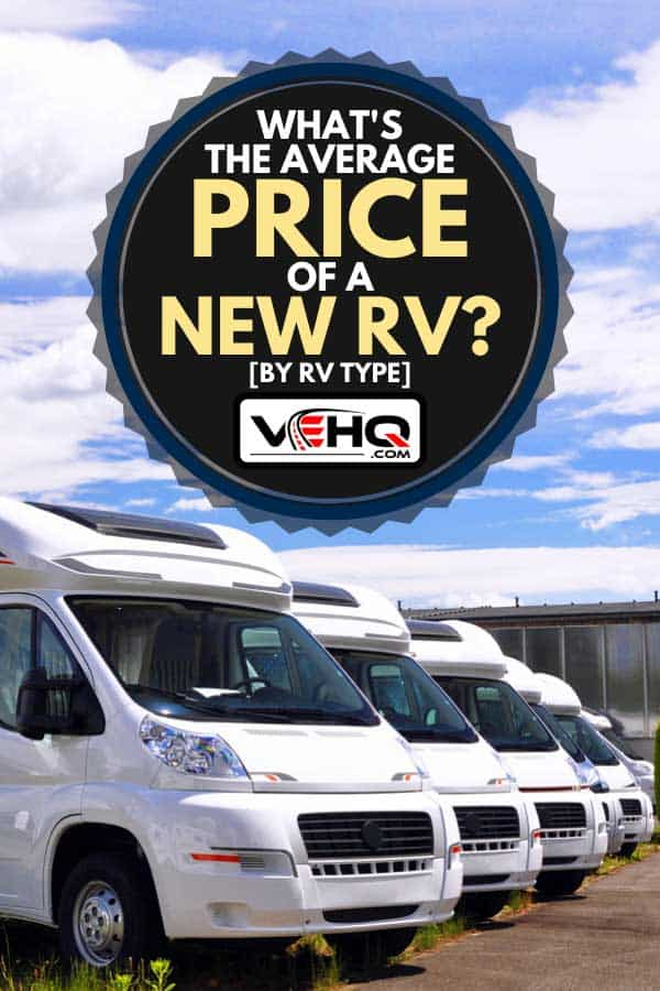 Newly produced motorhomes on a car park, What's the Average Price of a New RV? [By RV Type]