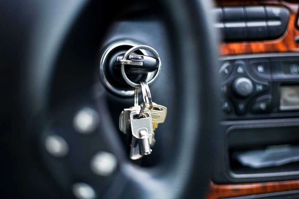 car key stock on ignition