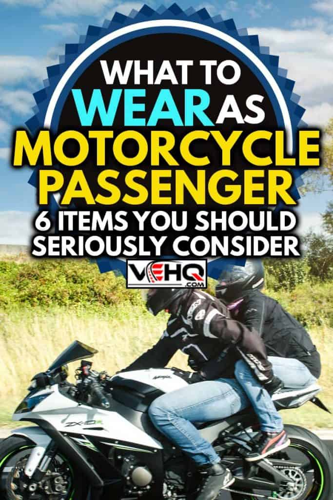 Side view of couple driving fast on highway on their supercharged motorcycle, What To Wear As Motorcycle Passenger? [6 Items You Should Seriously Consider]
