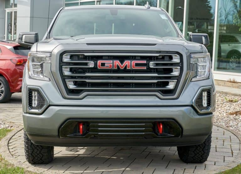 silver gmc canyon bumper shot close up 2