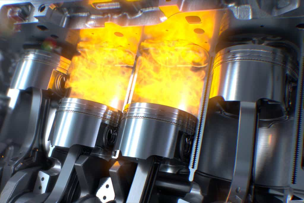 A detailed view of how a car engine piston combust fuel into power