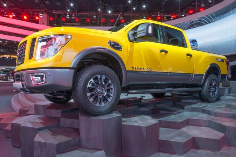 Huge yellow Nissan Titan on a cool man made octagon, How Long Does a Nissan Titan Typically Last?