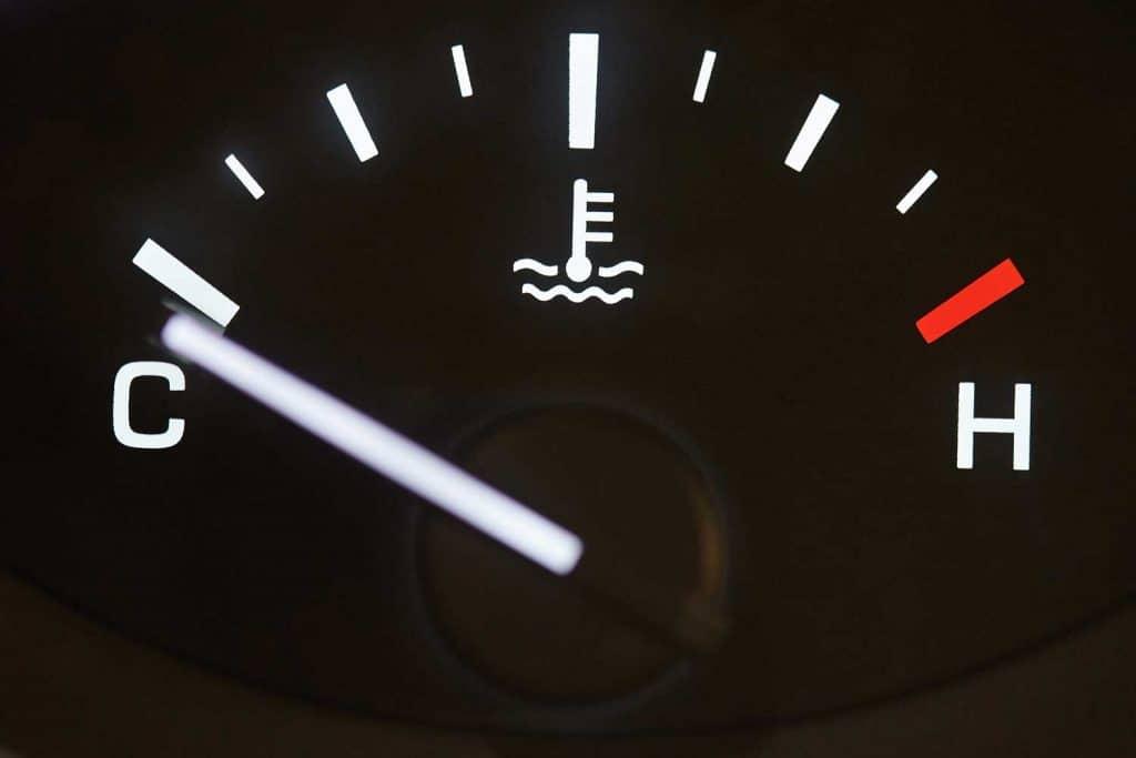 Car temperature coolant meter