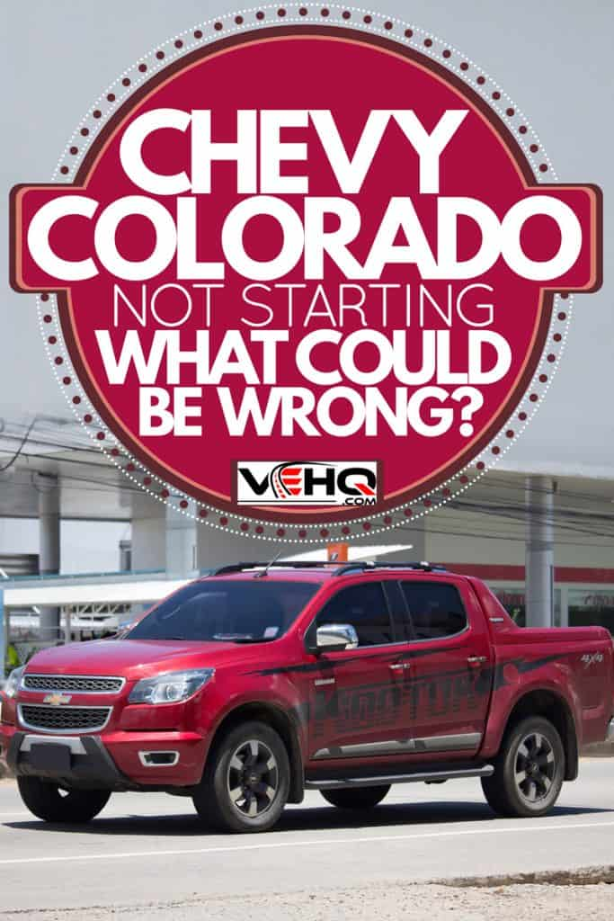 A red Chevrolet Colorado parked on a dealership, Chevy Colorado Not Starting - What Could Be Wrong?