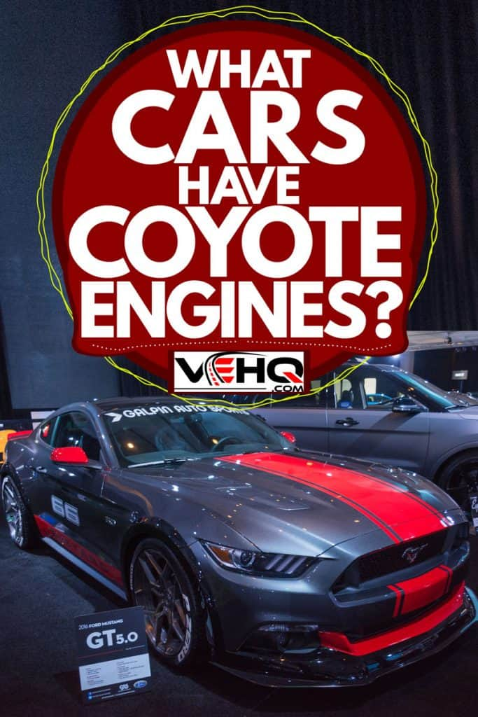 A gray Ford Mustang GT 5.0 at a car show next to a Ford Explorer, What Cars Have Coyote Engines?