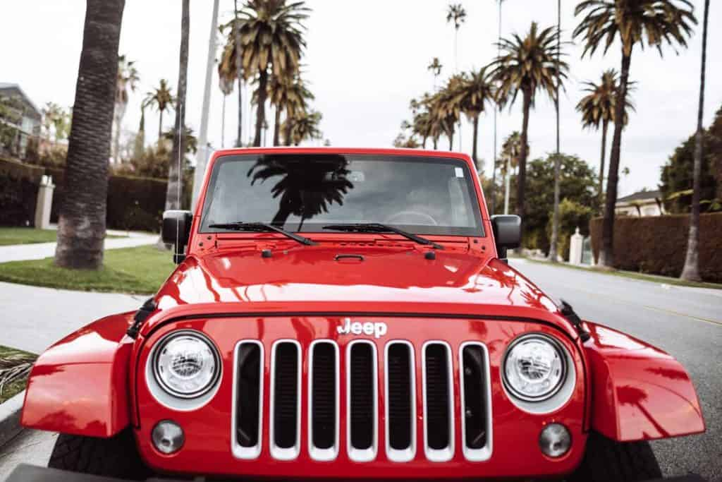 A Jeep Wrangler Sahara 2019 edition parked on Beverly Drive in Los Angeles, Jeep Wrangler Water Leak When It Rains - What To Do?