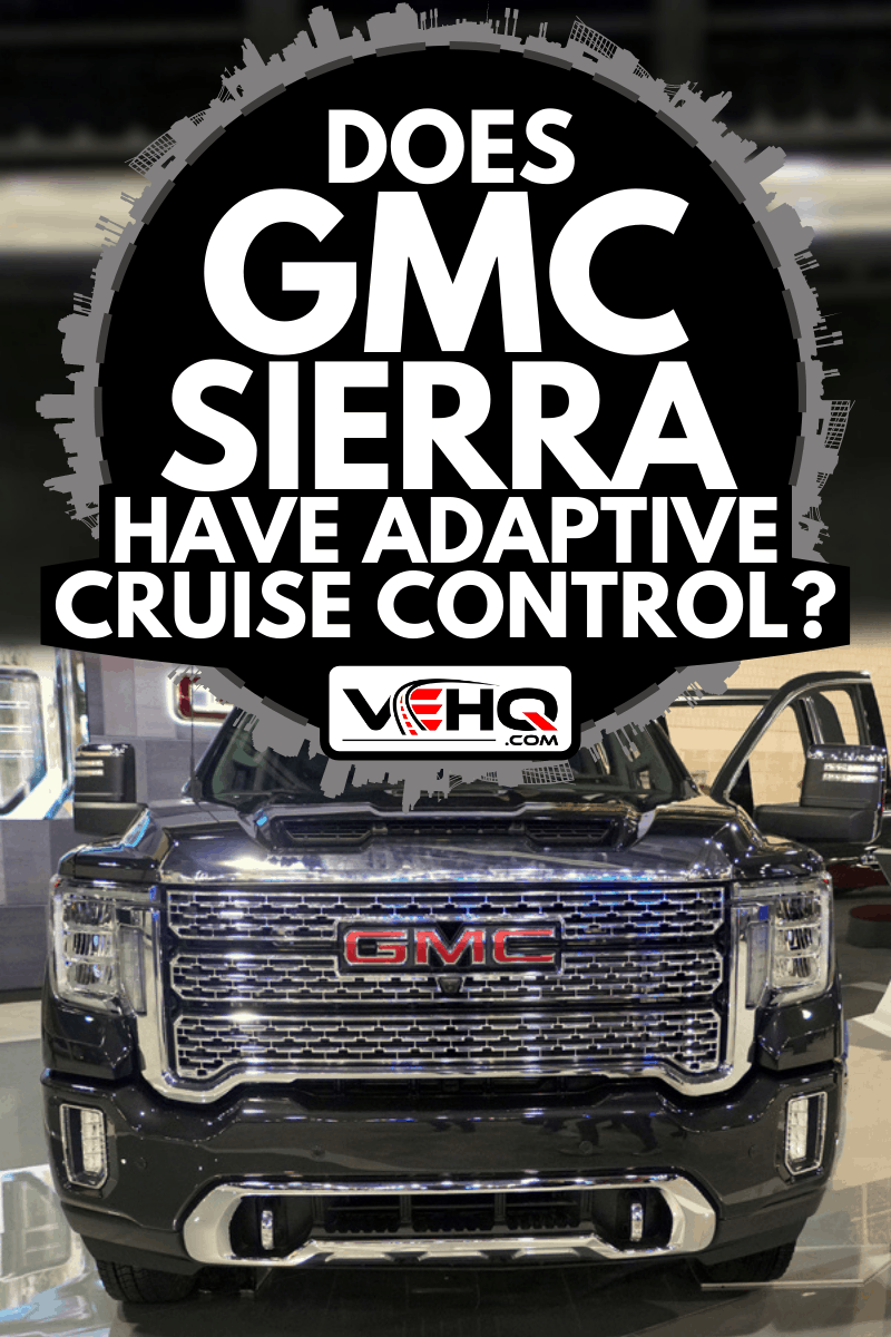 A front view of the black color of 2020 GMC Sierra 3500 Denali 4WD, Does GMC Sierra Have Adaptive Cruise Control?