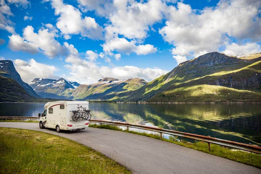 Family vacation travelling in RV motorhome