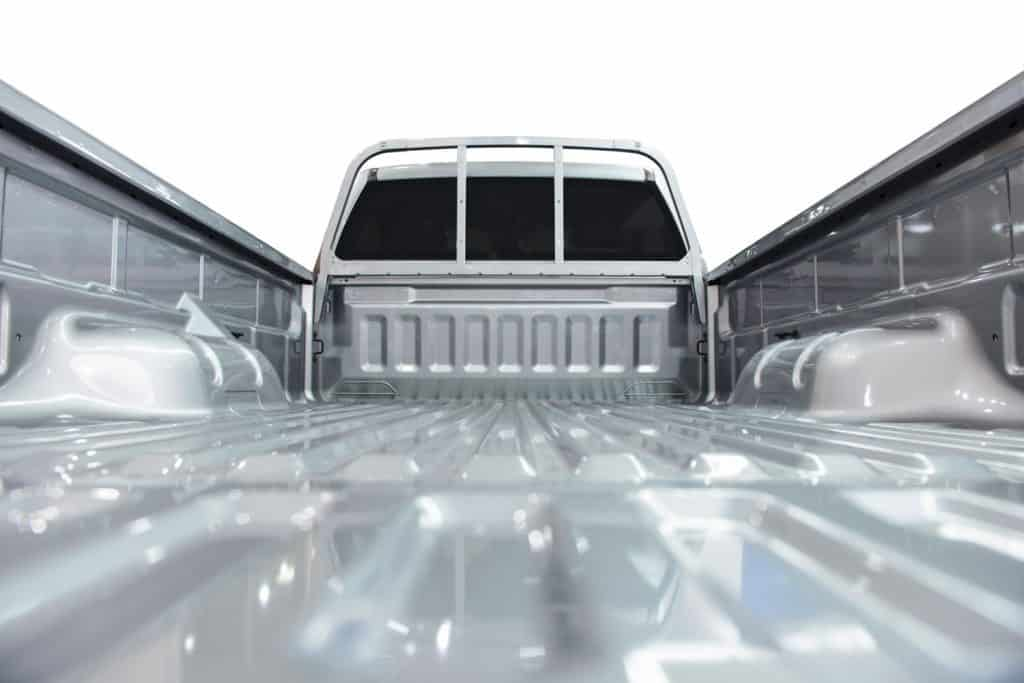 A detailed view of the bed of a pickup truck