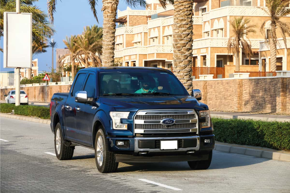 Pickup truck Ford F-150 in the city street