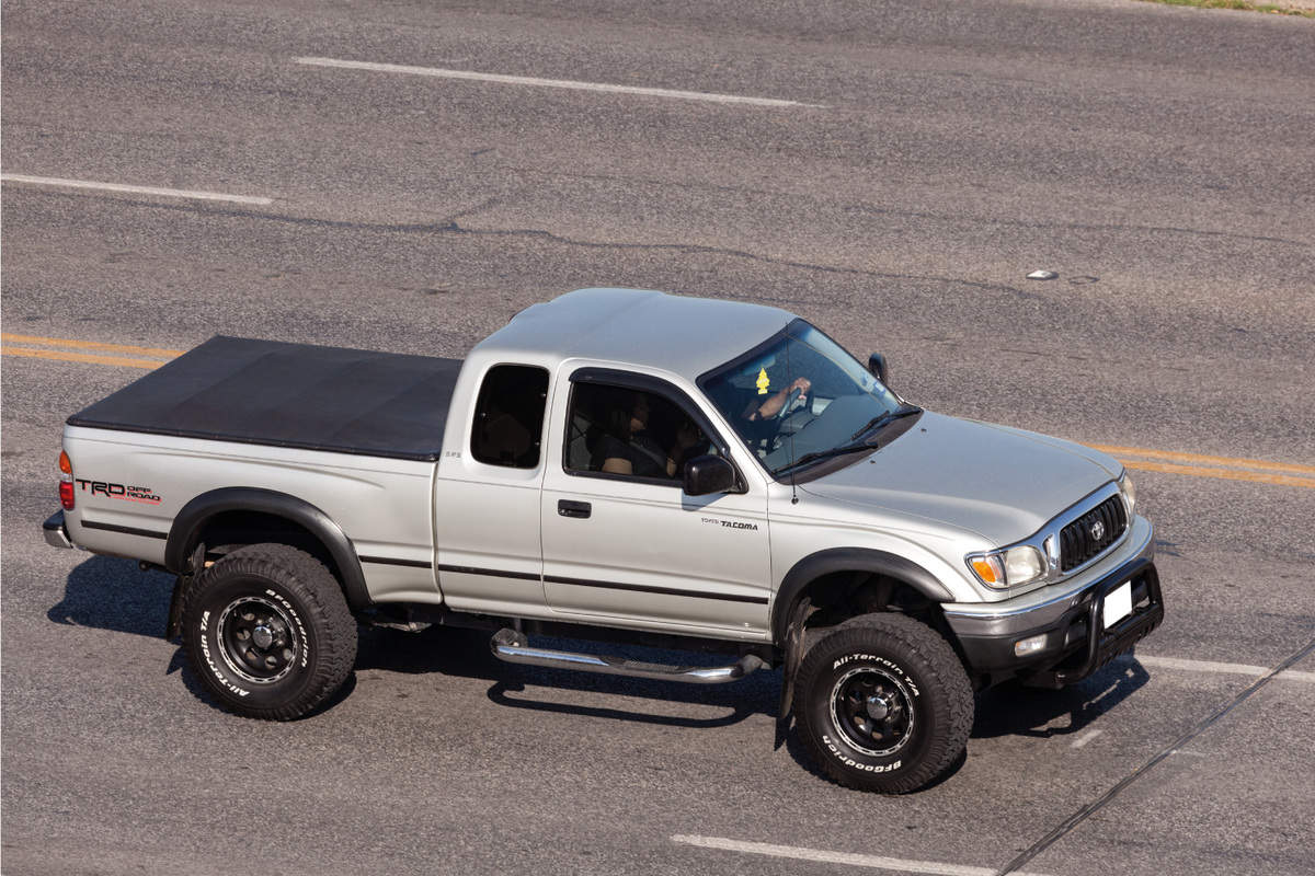 Toyota Tacoma TRD off road pickup truck on the street