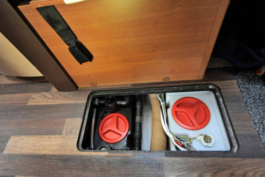 Clean and wastewater tanks in a camper, Sewage Smell In RV - What To Do?