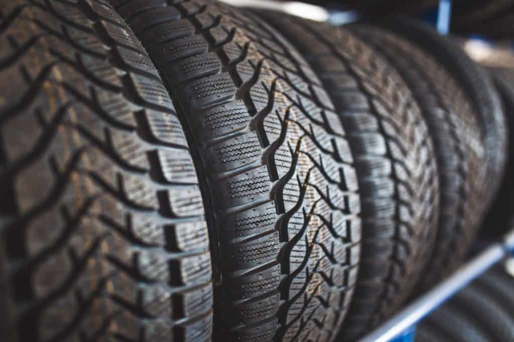 Detailed photo of huge car tires