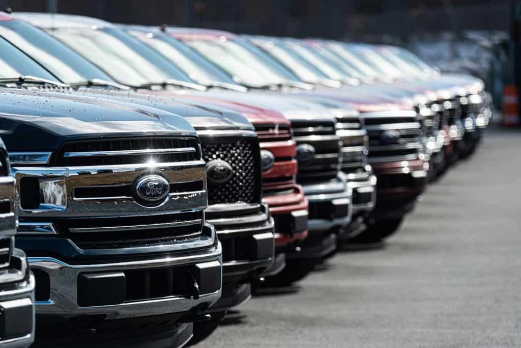 2020 Ford F-150 Pickup Trucks at a Ford dealership