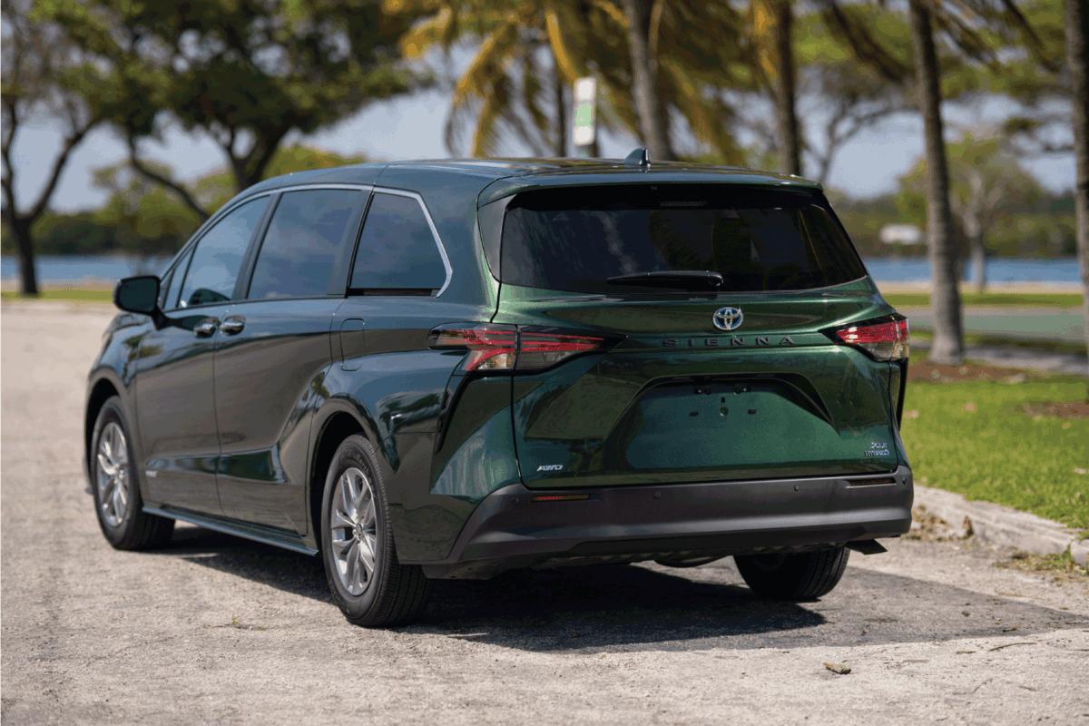 2021 Toyota Sienna Hybrid all wheel drive minivan green car