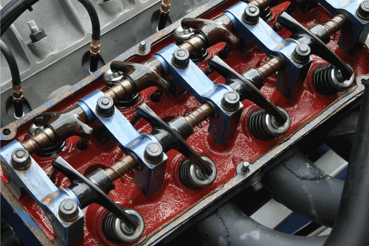 A Perspective view of the famous Hemi head with the valve cover off