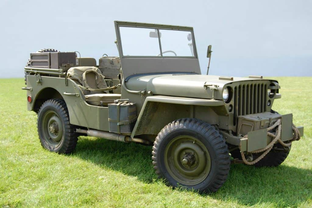 A World War Two Jeep troop transport