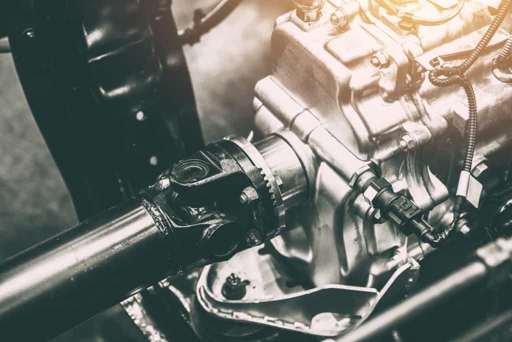 An up close photo of a car shaft