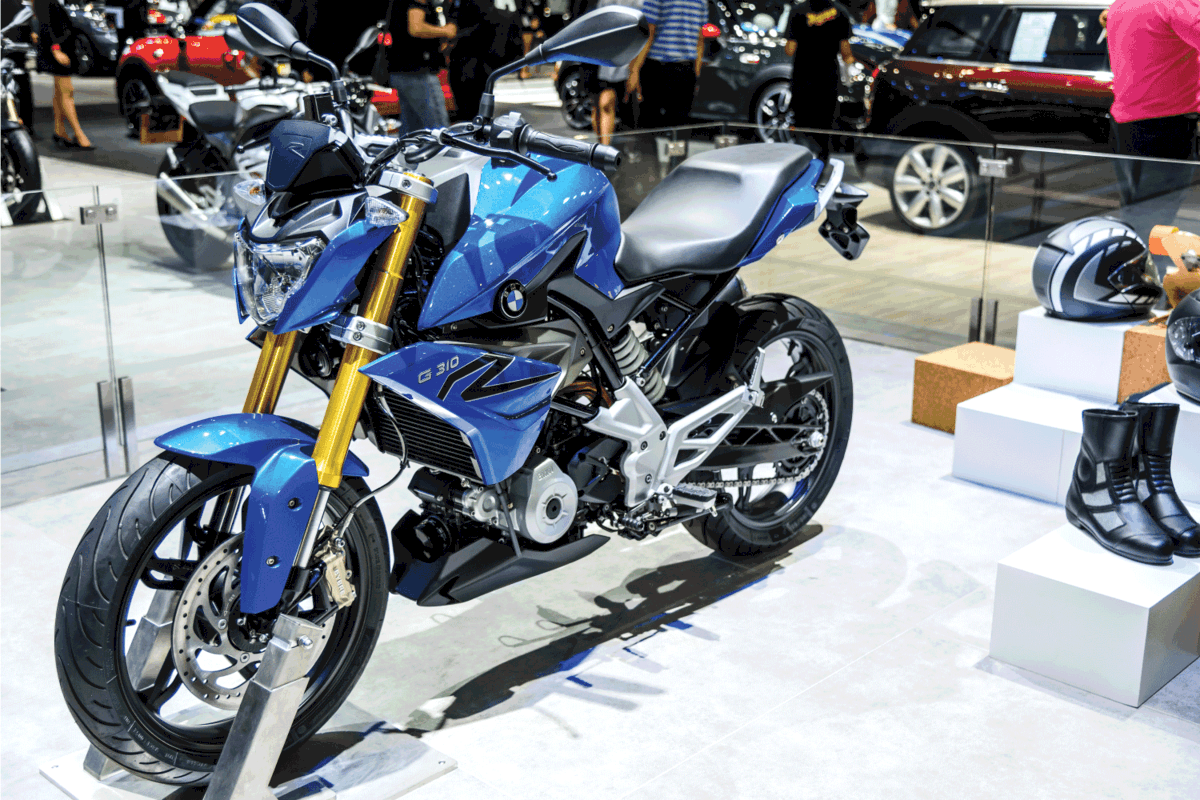 BMW Motorcycles G 310 R on display at a motorshow in Thailand