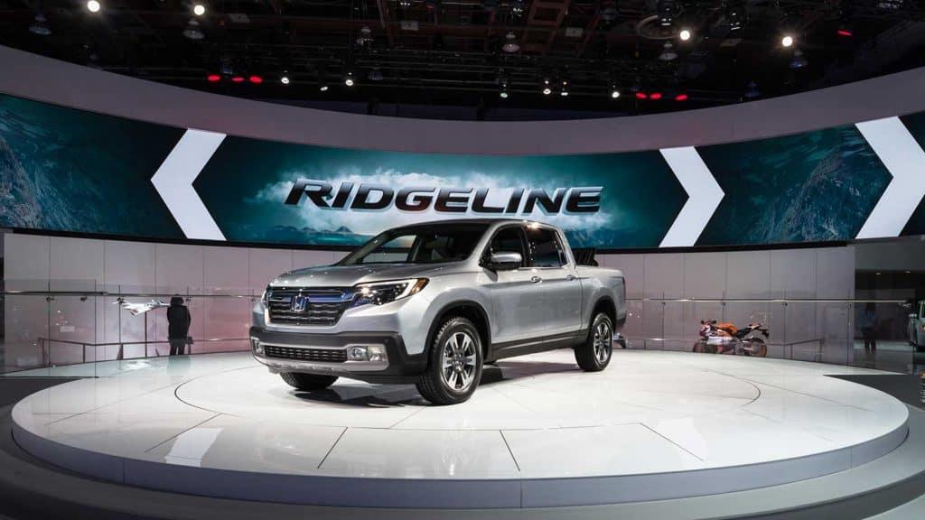 Honda Ridgeline truck at the North American International Auto Show