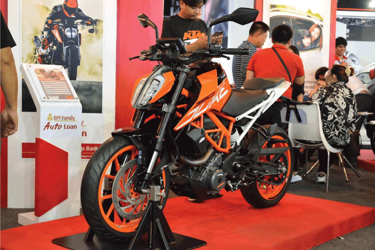 KTM duke 390 motorcycle at Manila International Auto Show