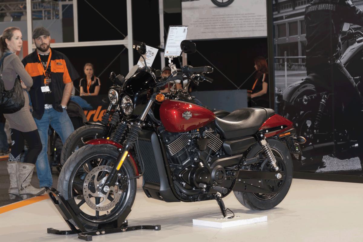 Motorcycle Harley Davidson Street 750 at International Fair for Motorcycles