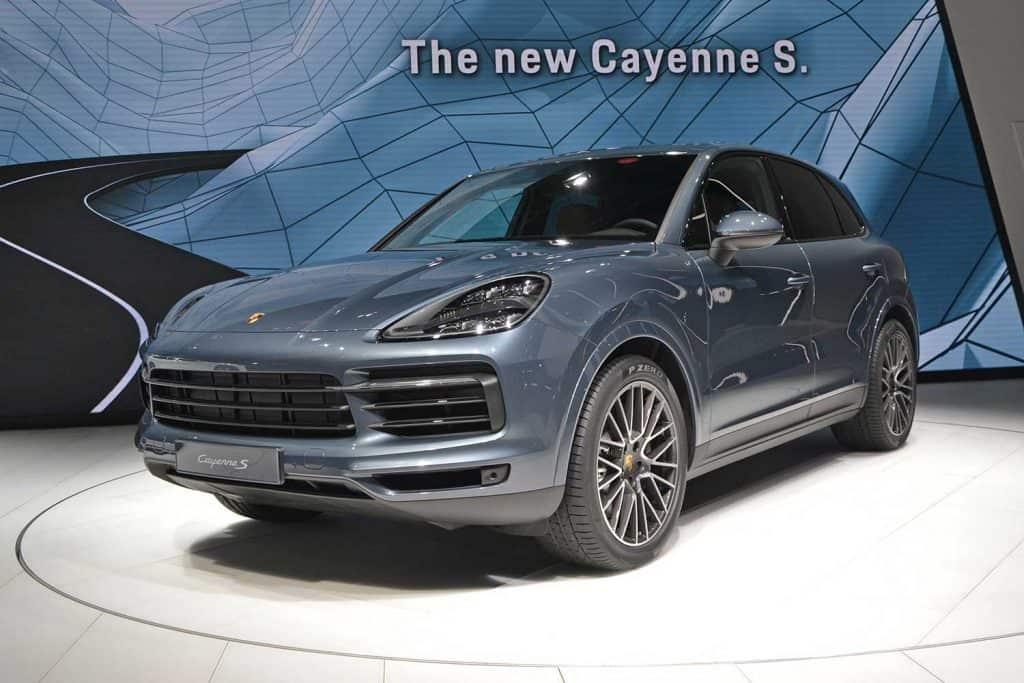 Porsche Cayenne S on the motor show