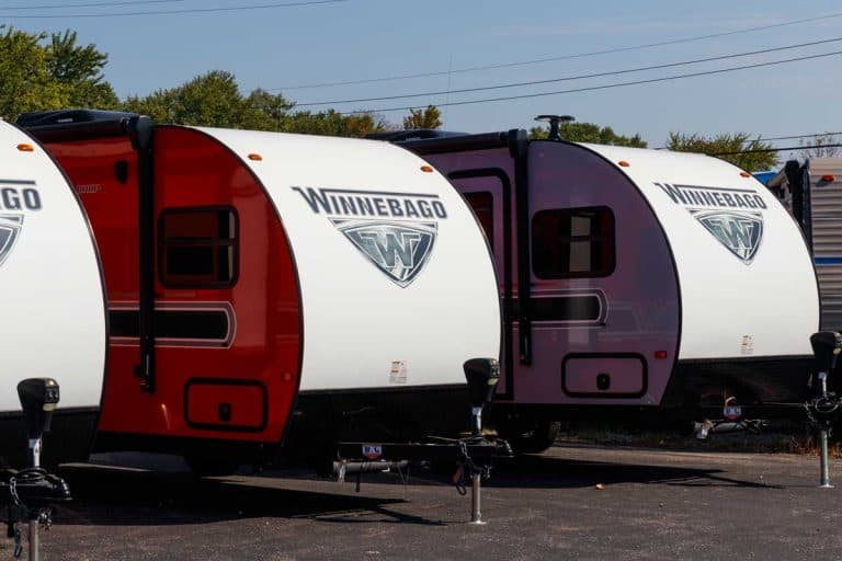 Winnebago recreational vehicles at a dealership, 15 Best Travel Trailers Under 4,000 Pounds