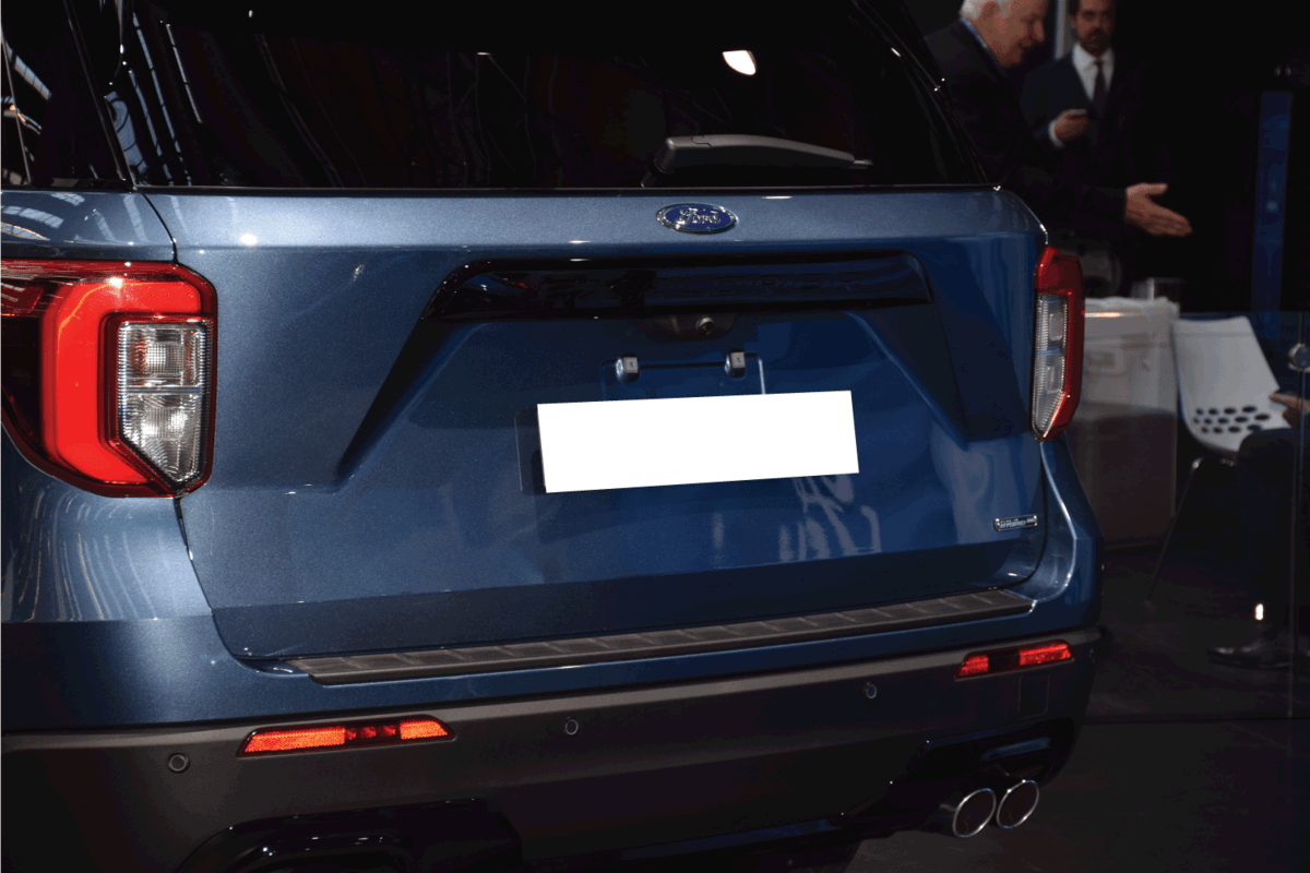 back view of a Ford Explorer Plug-in hybrid IAA