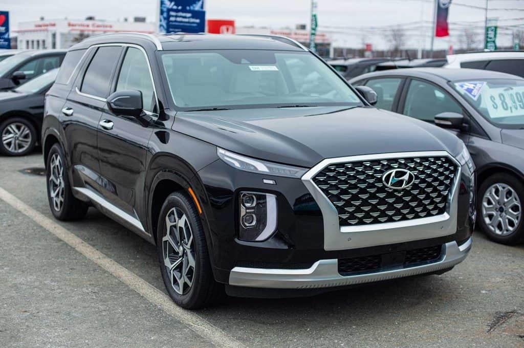 2020 Hyundai Palisade seven passenger sport utility vehicle at a dealership